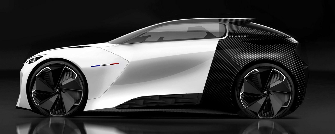 Fractal Urban Electric Coupé - Side view of the Fractal and its Coupe Franche